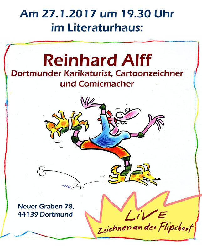 Live-Zeichnen mit Reinhard Alff