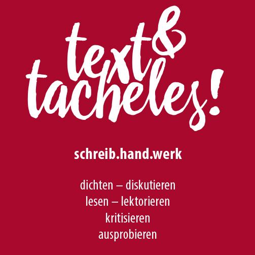 text und tacheles!