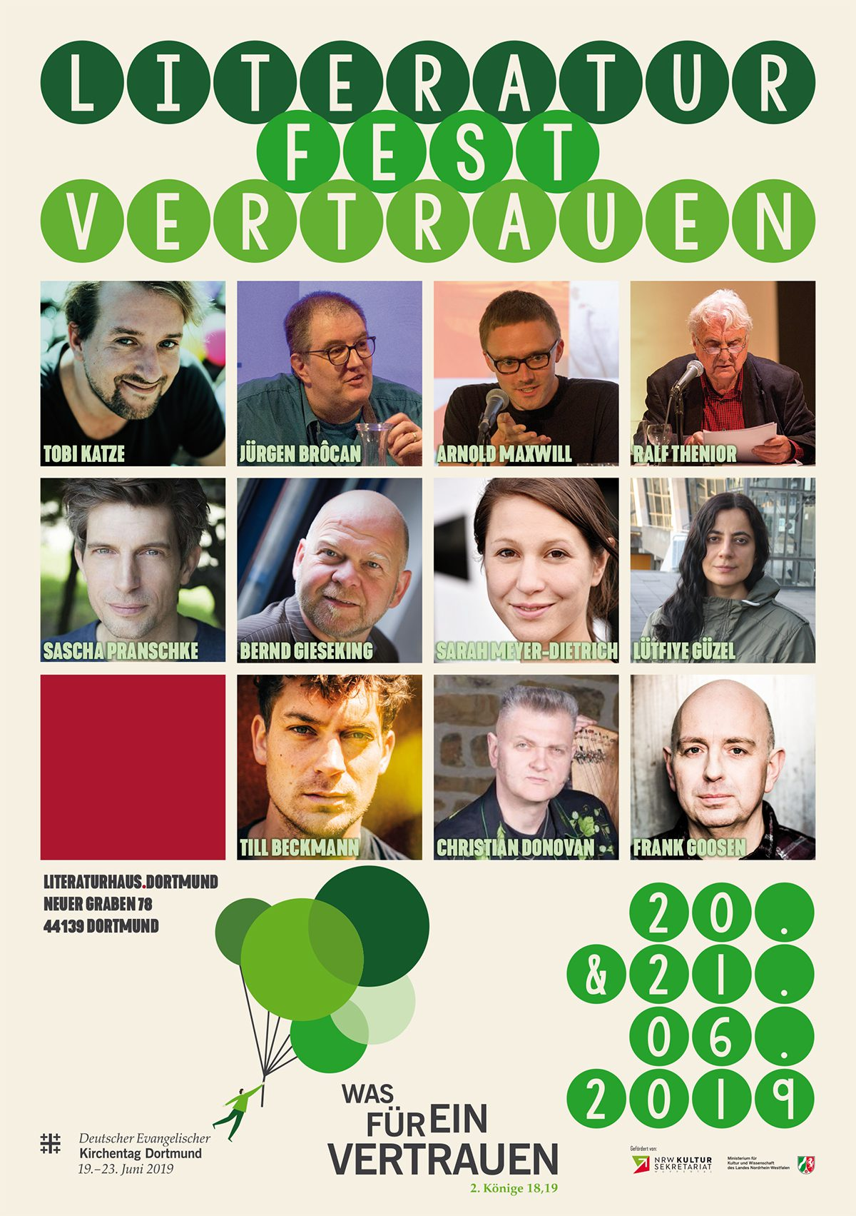 Literaturfest Vertrauen @ Literaturhaus Dortmund #Kirchentag
